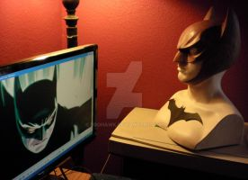 Bat cowl sculpt by BroHawk
