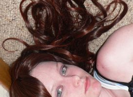 Eli Portrait Lying Down Hair 2 by Gracies-Stock