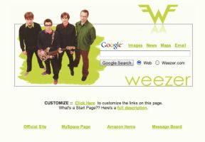 Weezer Startpage by AwesomeStart