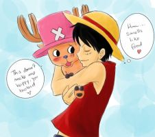 OP - Luffy and Chopper by Sanogirl