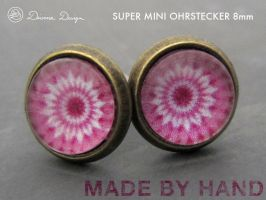 Mini and supercute Earrings in retro style by Divenadesign