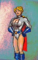 Power Girl looking cute by svettzwo