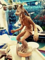 Star Wars - Jar Jar Binks Statue WIP by Hollow-Moon-Art