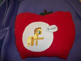 Applejack Brohoof Custom Apple Pillow by grandmoonma
