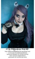 Gothic Kitty Girl Stock 002 by MADmoiselleMeliStock