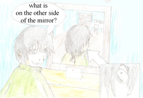 On the other side of the mirror by Mloun