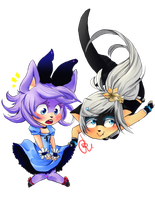 :COMchibi: Sinery nd Shedna by chibi-roll