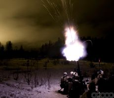 120mm mortar night shot 2 by Jno-J