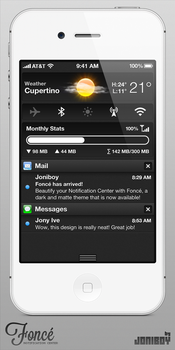 Fonce Notification Center by jonarific