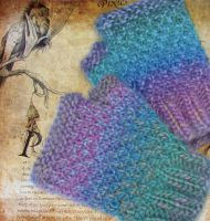 Rainbow Fairy Fingerless Mittens by noisypixie