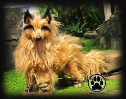 SOLD Wolf commission poseable artdoll OOAK by CreaturesofNat