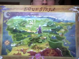 MLP map of Equestria poster by FDairyAnime