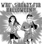 Kids Dressed as Wonder Woman and Superman by ryuzo