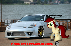 Canni Soda and her Nissan 350z  by superdentbros