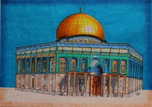 Dome of the Rock by nooralsabahart