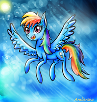 Dash into the Clouds by Ambersha