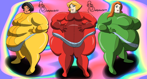 Totally Spies SSBBWs by bellylov3r77