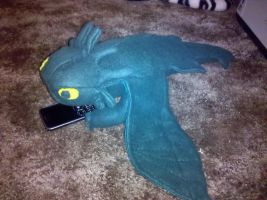 Green Toothless Plush by SillyMigol