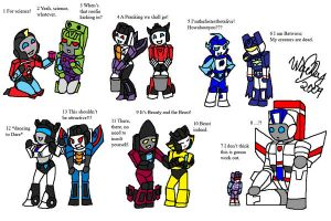 Transformer Chibi Collage 1 by wachey