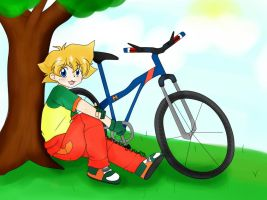 Max, the bike rider by blitzkriegyudith