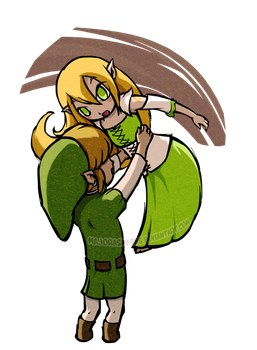 Link x Verios [FC] in TWW style |POINTS COMMISSION by MajorasMasks