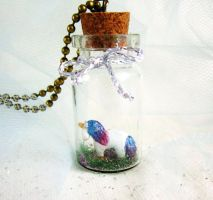 Magic unicorn in a bottle necklace by FlowerLandBySaraMax
