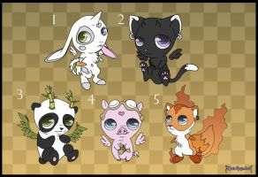 [Closed] Adoptables: Cute Animals by MySweetQueen