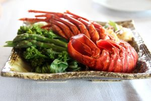 miso citrus lobster tail by doey8
