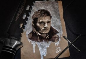 Jensen Ackles / mini - sketch by push-pulse