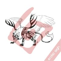 Tribal Gryphon 'DIRTY' by Erotic-sigh