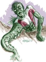 Zombie Beast Boy by mothbot