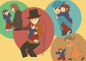 Alfendi Layton - Family by CoolFireBird