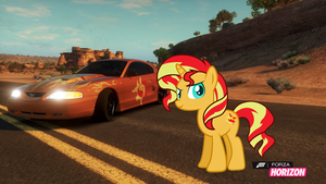 Sunset Mustang by EquestianRacer