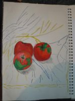 Apples Painting 1 by Moka898