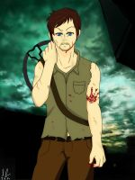 Daryl Dixon - Anime Style - The Walking Dead by OpSayu