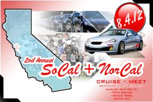 2012 2nd Annual Norcal + SoCal Meet Poster by Mechis