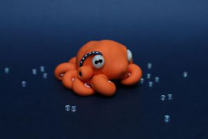 Orange Octopus Two by RoundedSculptures