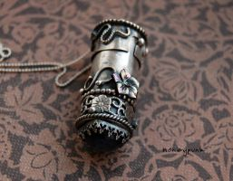 handmade necklace small bottle by honeypunk