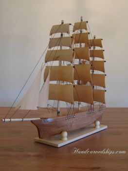 Latest Stylized Clipper Ship Carving by mferraton