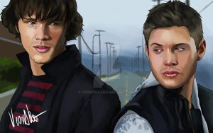 Sam and Dean by verkoka