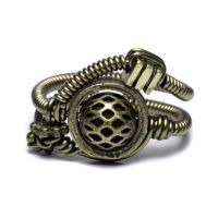 Armor Steampunk Ring 2 by CatherinetteRings