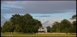 Summer Farmhouse Scene by TakeMeToAnotherPlace