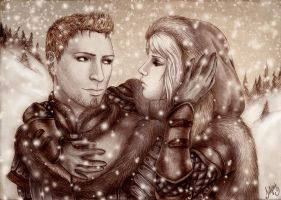 Alistair and Helena, art trade by Isbjorg