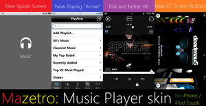Mazetro: Music Player App Theme for iPhone by LuminaryDragon