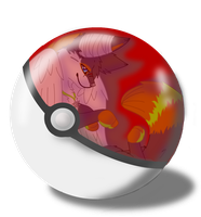 in a pokeball by Kaia-Anevay