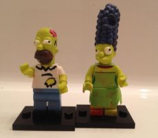 Custom Treehouse Of Horror Simpsons Lego Minifigs by Derrico13