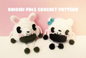 cute n kawaii onigiri pals Crochet Pattern by hellohappycrafts