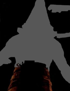 Pyramid Head photoshop painting wip by D3adD1g1t