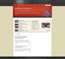 Taylor Construction Website by HappyCatfishWeb