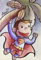 Curious George Superman by AgnesGarbowska